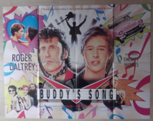 Buddys Song, Original UK Quad Poster, Roger Daltrey, Chesney Hawkes '91